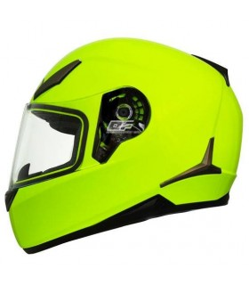 Casco Shiro SH-715 Monocolor Amarillo Fluor