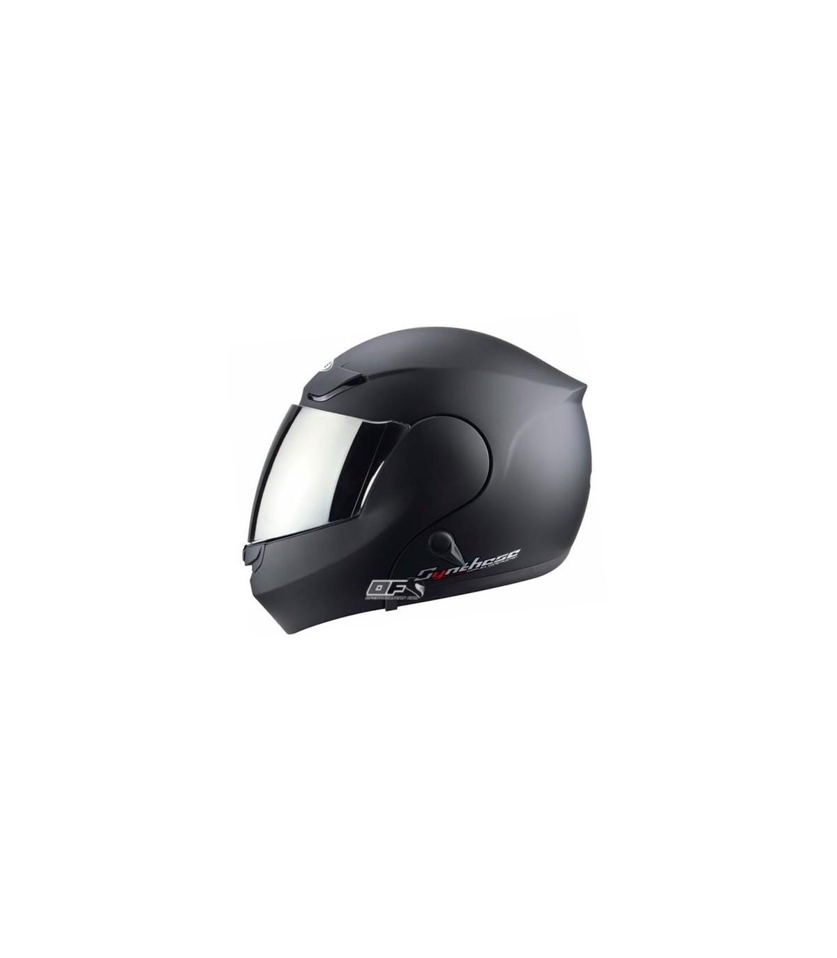 casco abatible ZEUS HZ 3000 NEGRO MATE CON GAFAS SOLARES