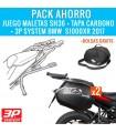 "Pack 2 Maletas SH36 + Tapas carbono ""GRATIS"" + Bolsas ""GRATIS"" + Fijación 3P System BMW S1000XR (15-18)"