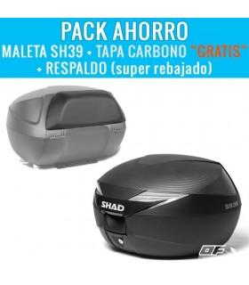 "Pack Baúl Shad SH39 + Tapa carbono ""GRATIS"" + Respaldo en oferta"