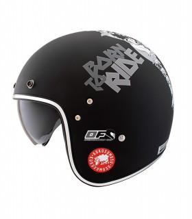 Casco Shiro KUKUSKULL casco moto  Jet  retro