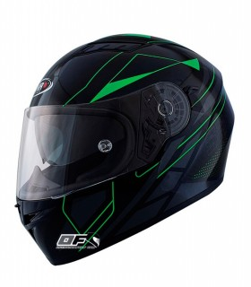 Casco Shiro SH-600 Elite Negro mate / Verde Fluor