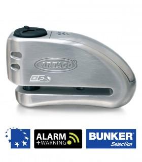Artago 32S Candado disco moto con alarma  eje 15. Pinza de disco maxima seguridad