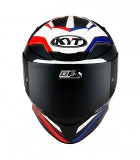 Casco KYT TT Course Grand Prix  Azul Rojo