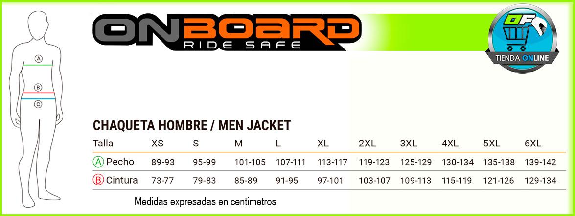 Guía de tallas chaquetas moto